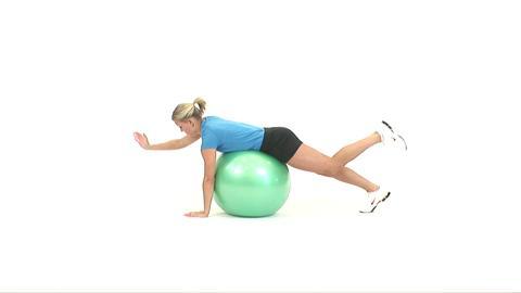 How Do I Perform a Ball All Fours Opposite Arm/Opposite Leg Raise?