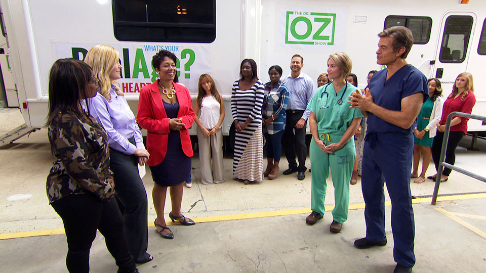 Dr. Oz Holds a Mobile Heart Age Clinic